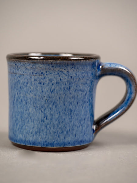 Tender espresso cup blue glazed