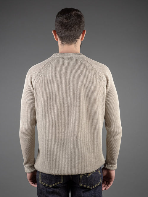 Tender Long Sleeve Ranglan Pullover Natural Linen back