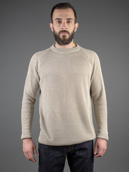 Tender Long Sleeve Ranglan Pullover Natural 3-Ply Linen