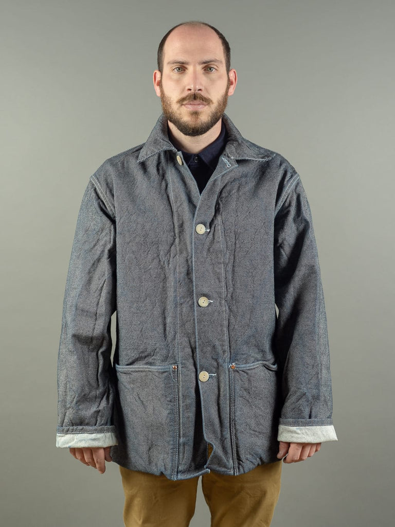 Tender Collared Shepherd's Coat denim work jacket