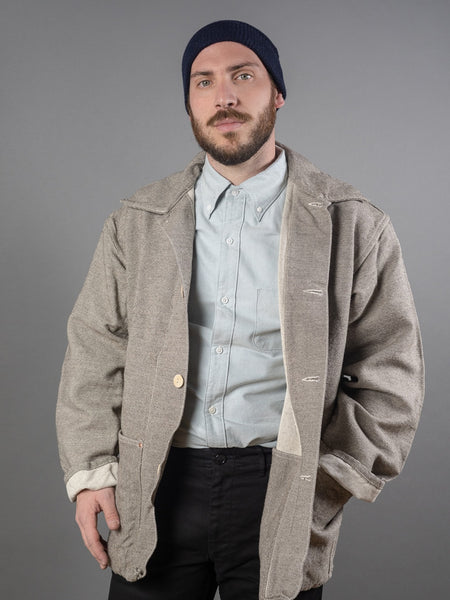 Tender Collared Shepherd's Coat ryeland wool work jacket