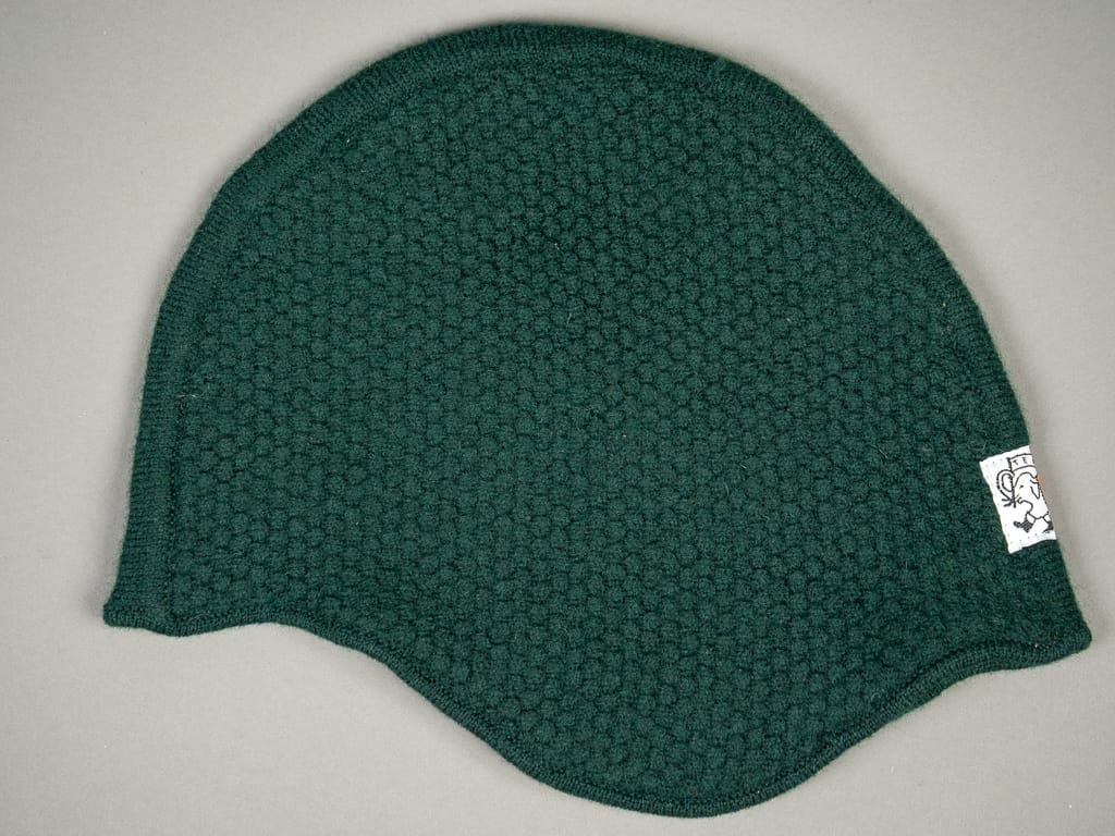 Tender Double Thickness Helmet Blackberry Stitch Bottle Green Lambswool