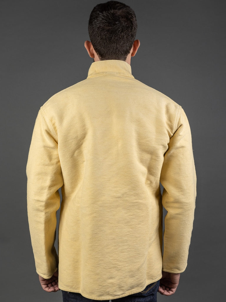 Tender Janus Jacket Iron Rust Dyed Cotton Molleton back