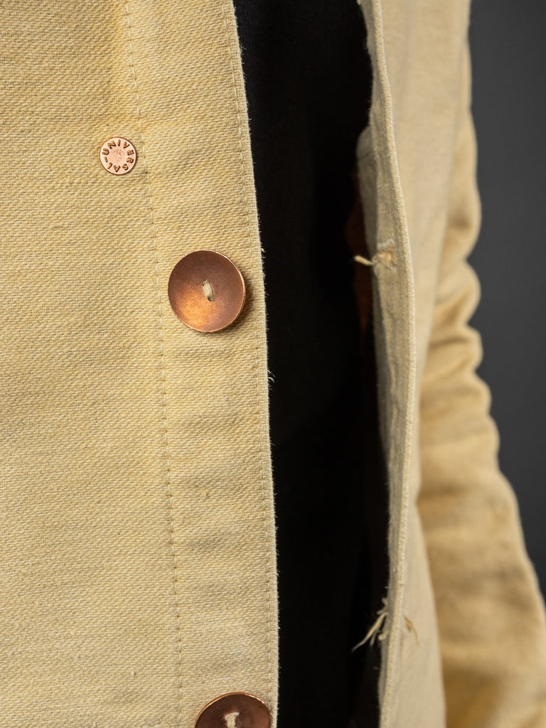 Tender Janus Jacket Iron Rust Dyed Cotton Molleton copper buttons