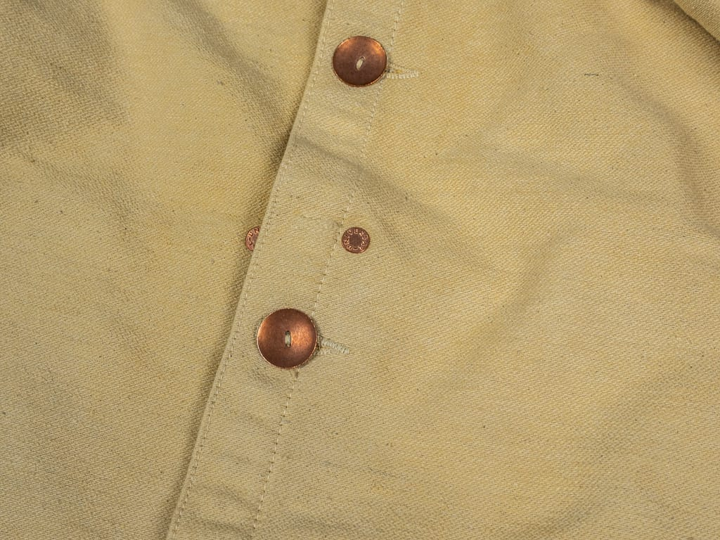 Tender Jacket Iron Rust Dyed Unfinished Cotton Molleton buttons