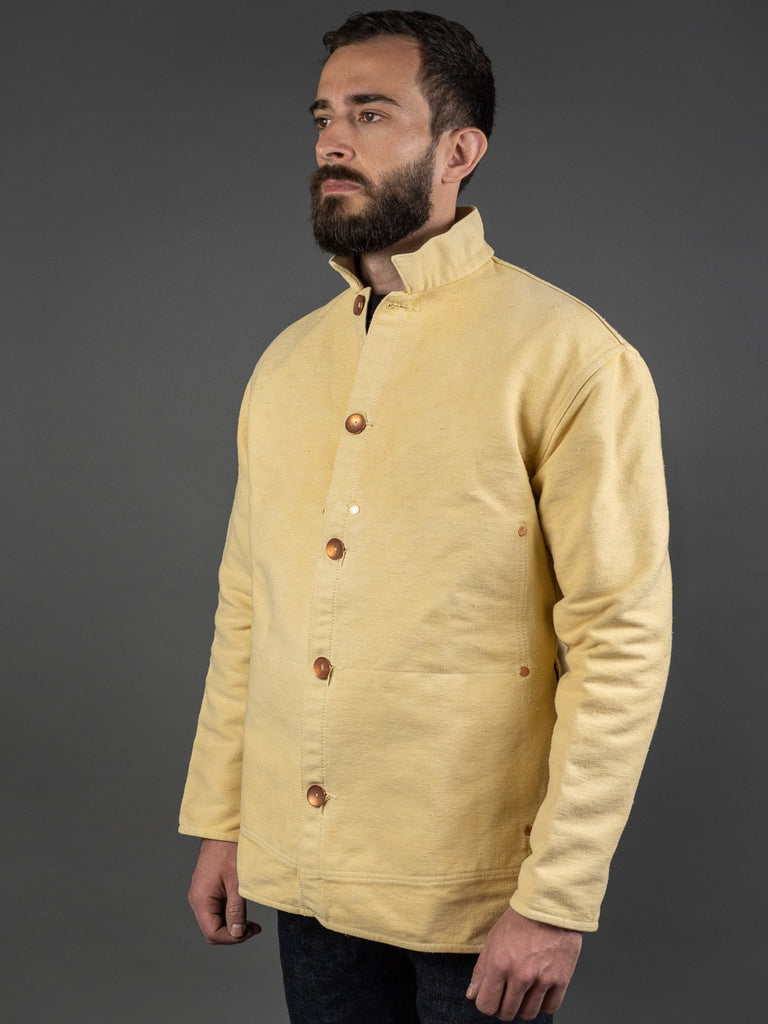 Tender Janus Jacket Iron Rust Dyed Cotton Molleton side