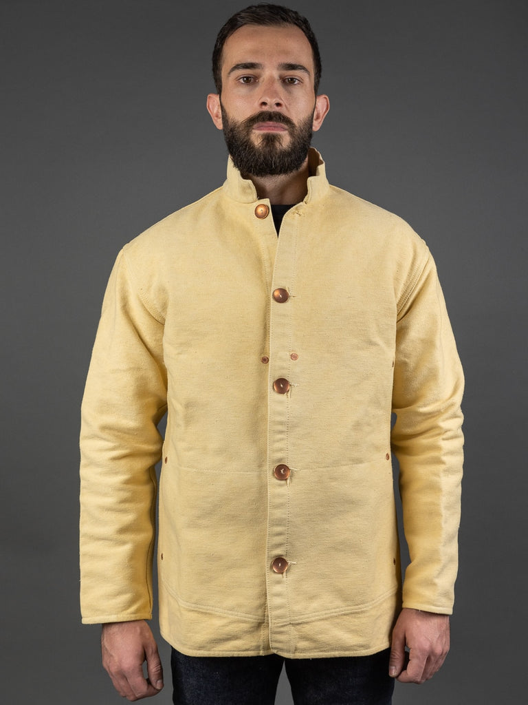 Tender Janus Jacket Iron Rust Dyed Cotton Molleton
