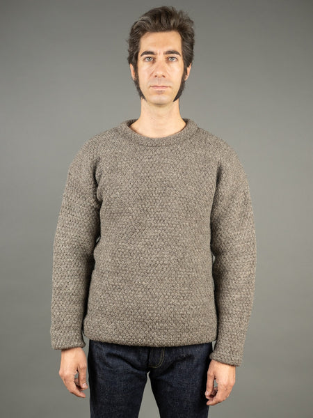 Tender Mirror Panel Double Pullover Ryeland Wool front