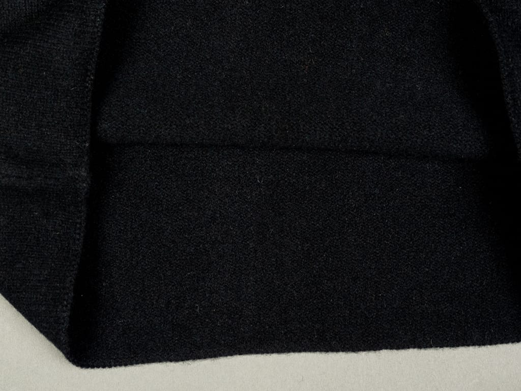 Tender Open Neck Pullover Black Cold Felted Lambswool interior