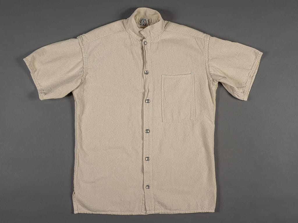 Tender Short Sleeve Bench Shirt Tote Cloth beige front