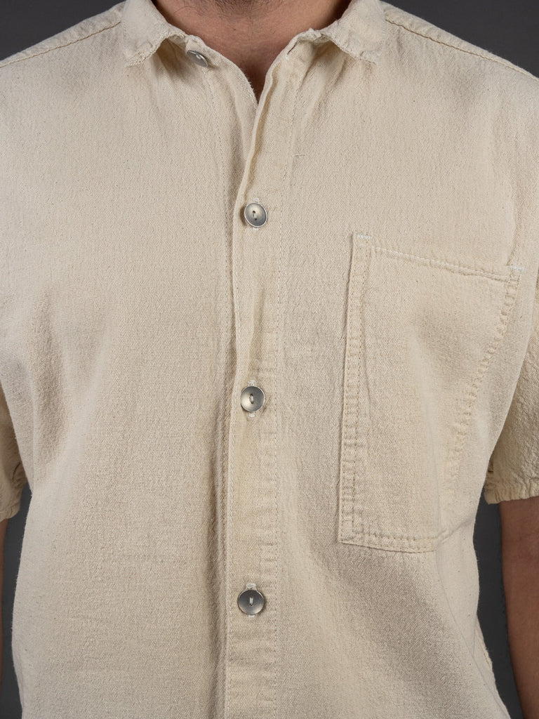 Tender Short Sleeve Bench Shirt Tote Cloth buttons