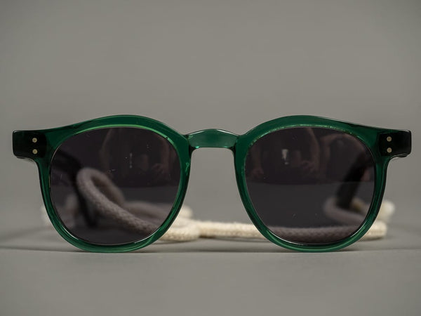 Tender Bottle Green Slimmer Flat Top Sunglasses