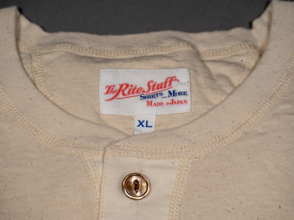 henley unbleached cotton japanese tshirt made by john lofgren