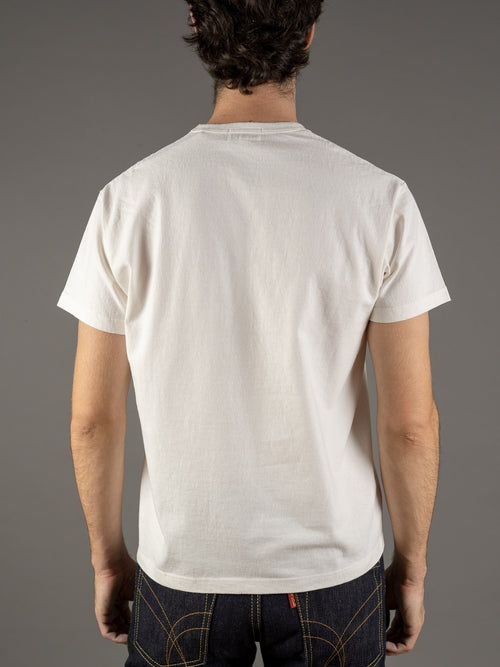 the rite stuff white loopwheel tshirt made in japan back
