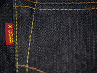 the strike gold 3109 left hand twill jeans red tab