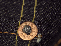 the strike gold 3109 left hand twill jeans iron copper rivet