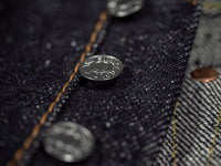 the strike gold 6109 slubby jeans raw japanese denim buttons
