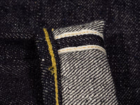 gold selvedge of the strike gold 6109 slubby jeans