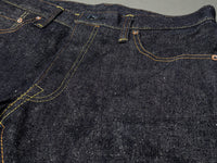 the strike gold 6109 slubby jeans unsanforized denim