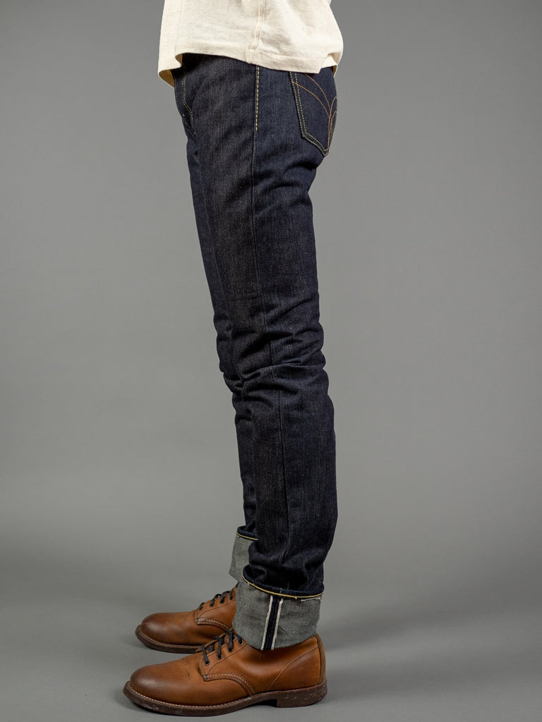 the strike gold 3109left hand twill raw japanese jeans