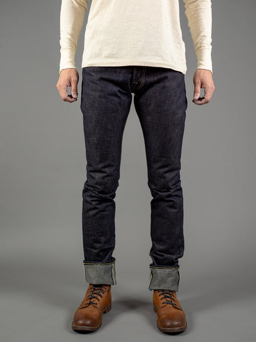 the strike gold 3109 left hand twill raw japanese denim front
