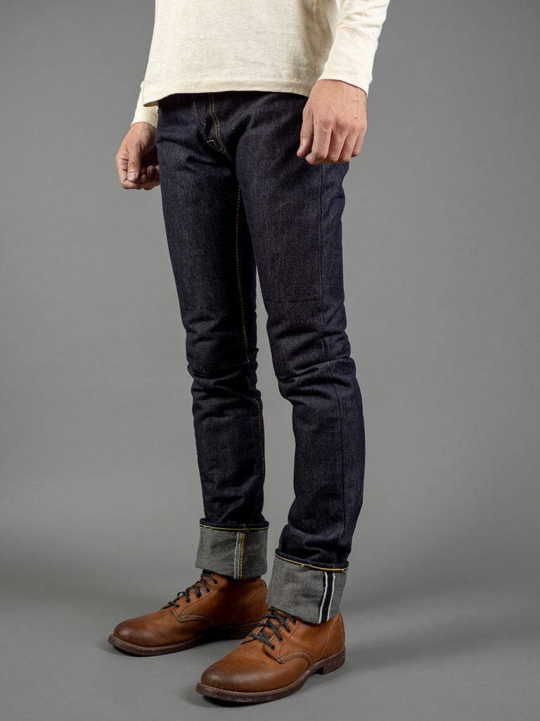 the strike gold 3109left hand twill raw japanese denim side