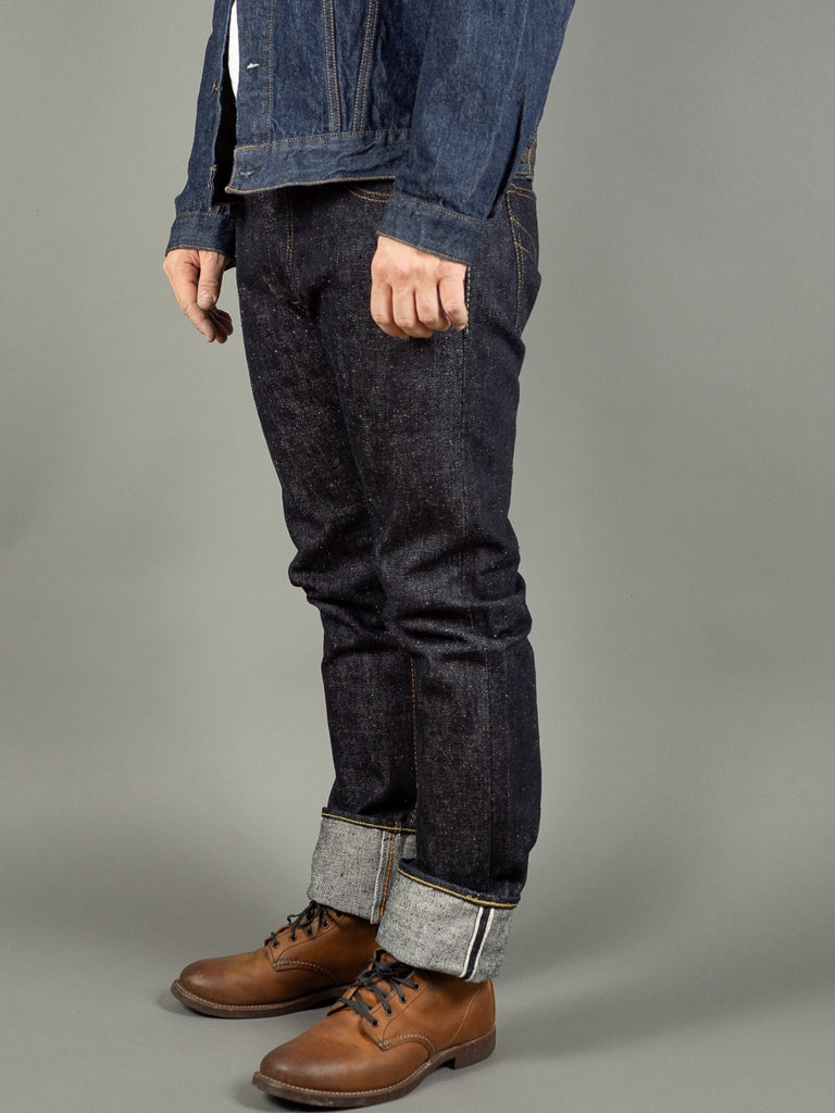 the strike gold 6109 slubby jeans raw japanese denim side