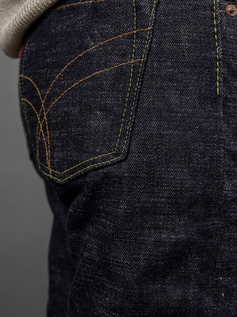 The Strike Gold 7104 Ultra Slubby Jeans back pocket