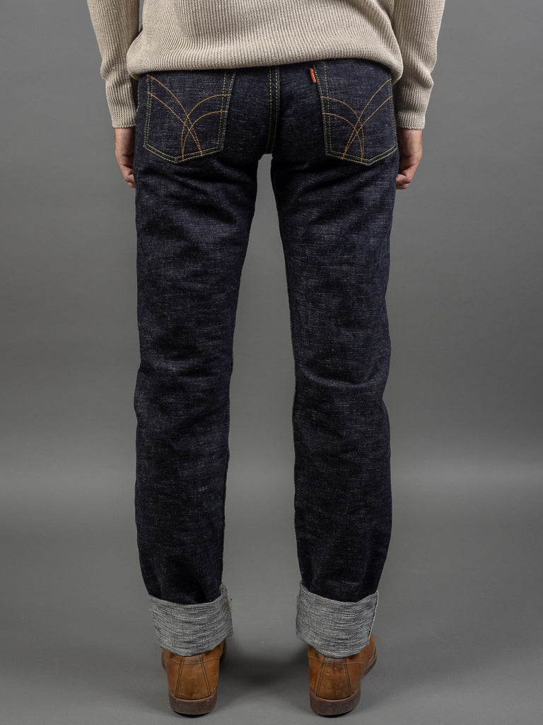The Strike Gold 7104 Ultra Slubby Straight Tapered Jeans back