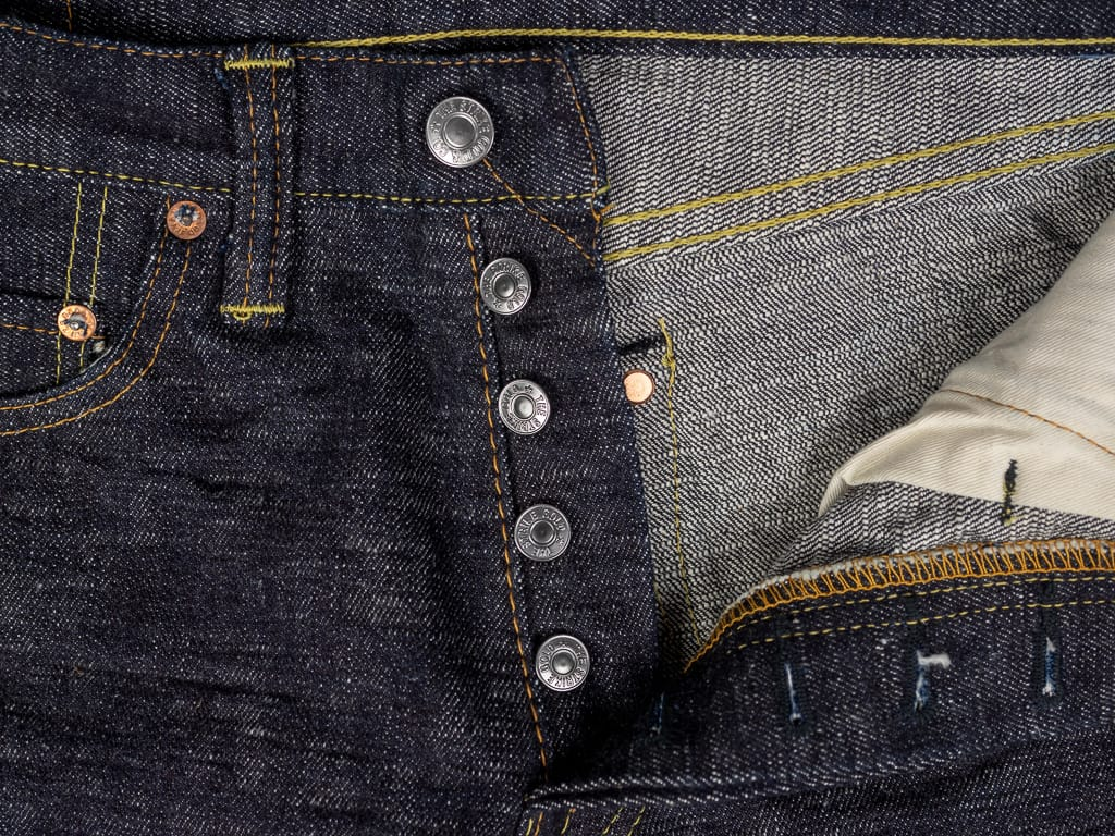 The Strike Gold 7104 Ultra Slubby Jeans buttons