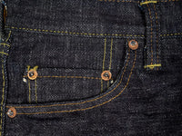 The Strike Gold 7104 Ultra Slubby Jeans hidden coin pocket