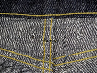 The Strike Gold 7104 Ultra Slubby Jeans interior stitching