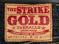 The Strike Gold 7104 Jeans deerskin leather patch