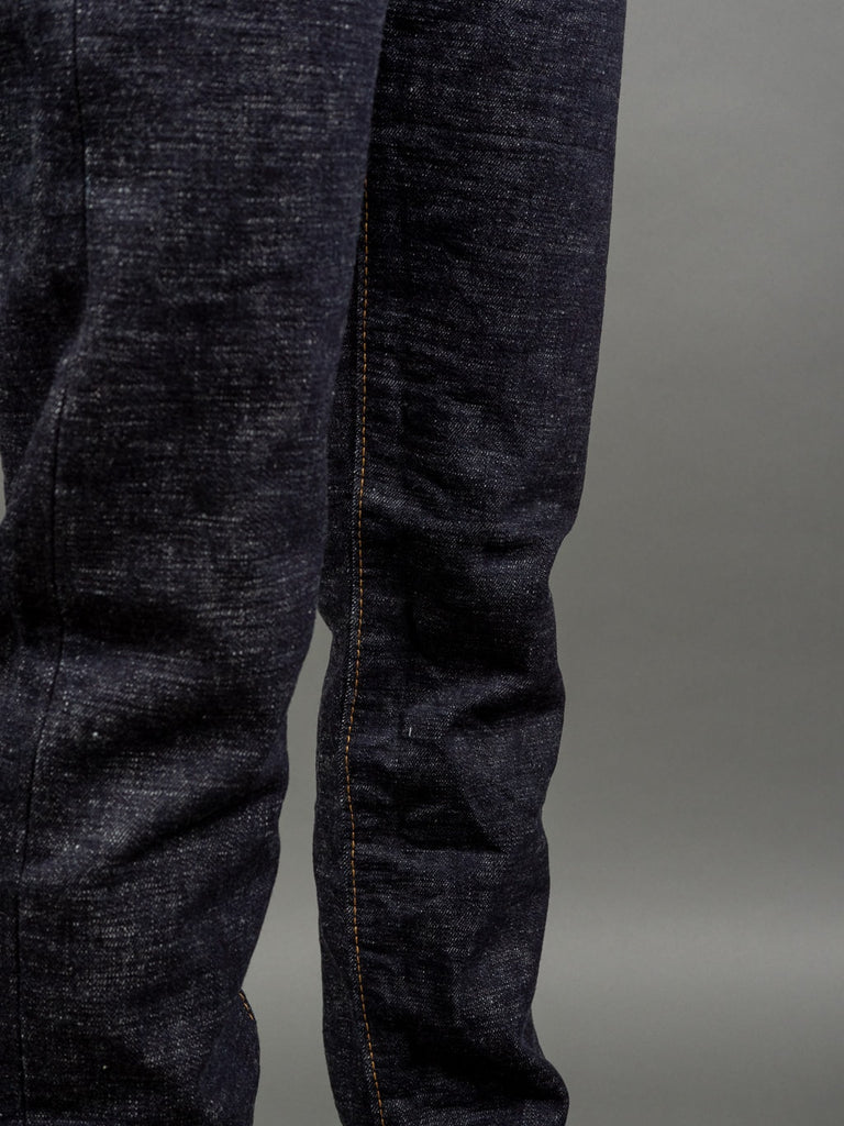 The Strike Gold 7104 Ultra Slubby Straight Tapered Jeans inseam