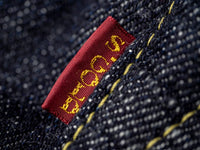 The Strike Gold 7104 Ultra Slubby Jeans red label