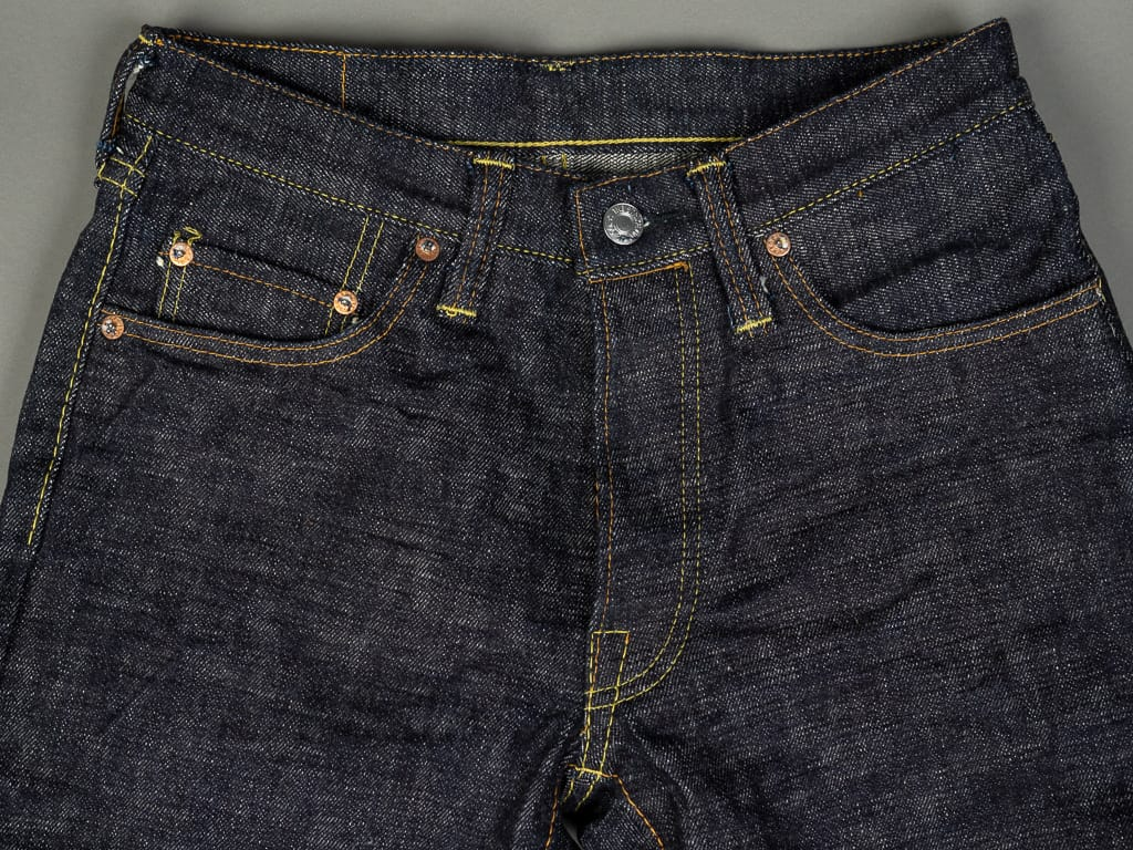The Strike Gold 7104 Ultra Slubby Jeans waist
