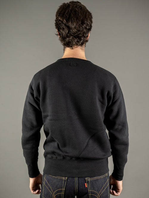 the strike gold loopwheeled sweatshirt black back