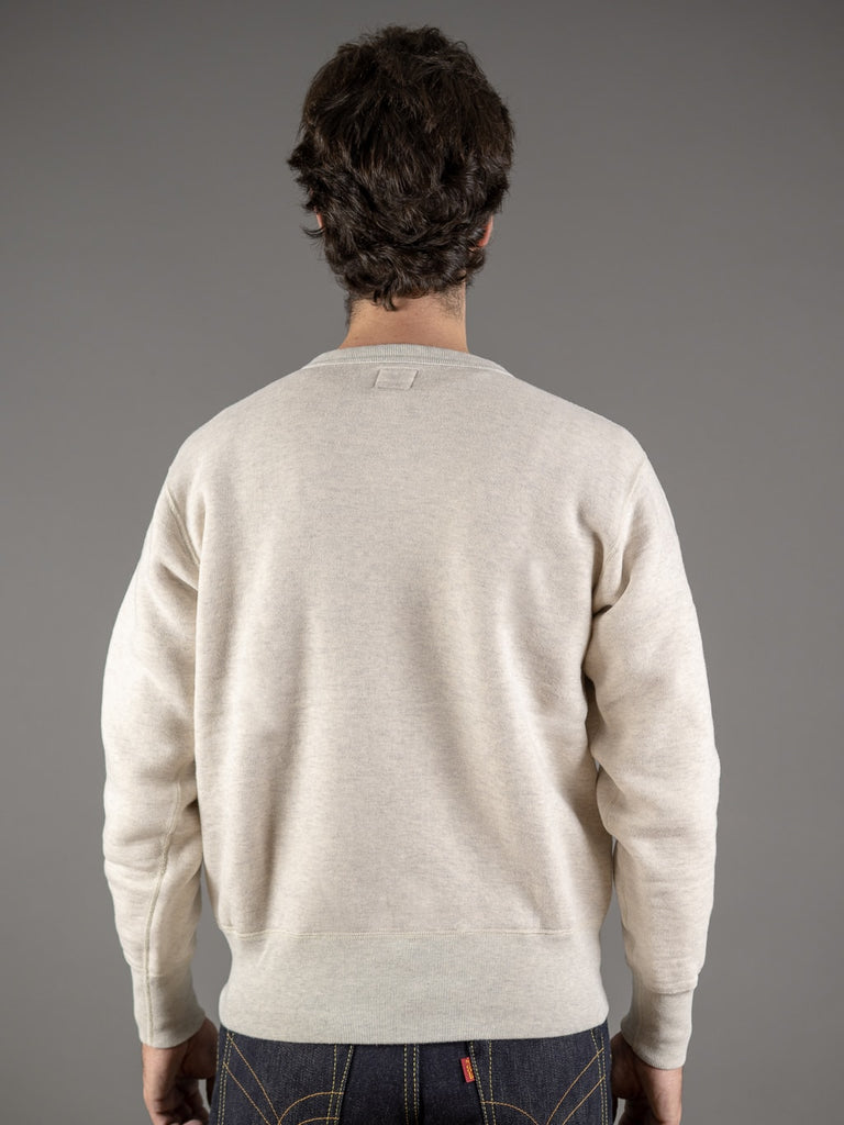 the strike gold japanese loopwheeled sweatshirt oatmeal back