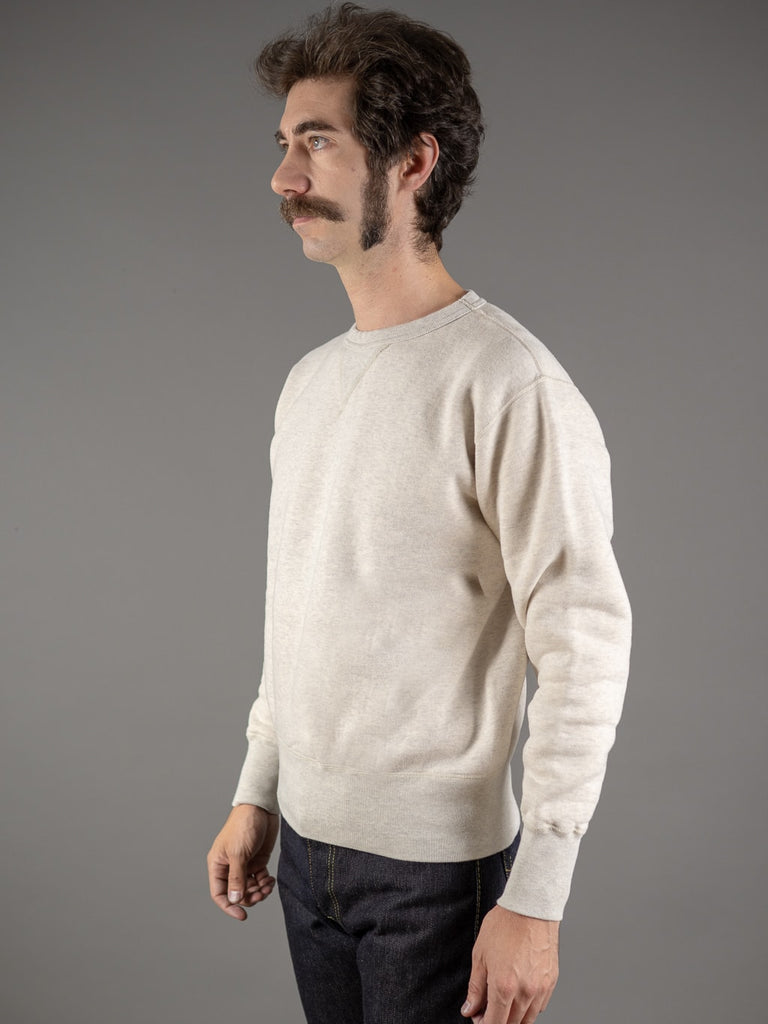 the strike gold japanese loopwheeled sweatshirt oatmeal