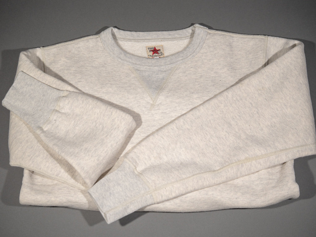the strike gold japanese loopwheeled sweatshirt oatmeal folded