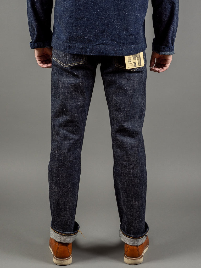 trophy clothing 1605 standard dirt denim japanese jeans back