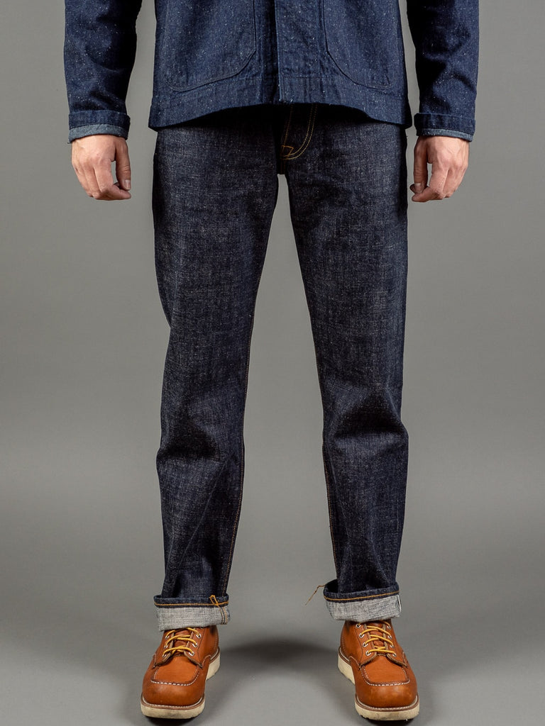 trophy clothing 1605 standard dirt denim japanese jeans front