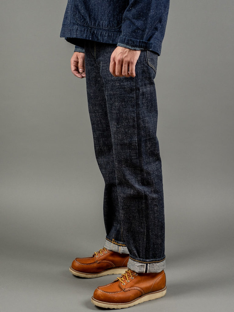 trophy clothing 1605 standard dirt denim japanese jeans side