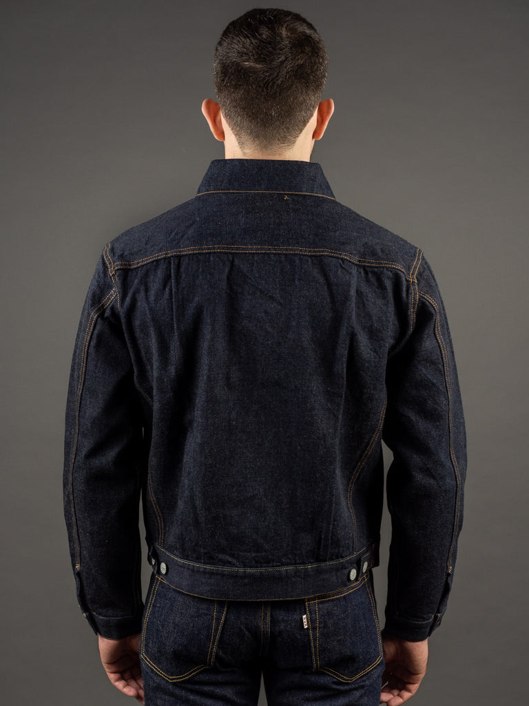 trophy clothing authentic type ii denim jacket back
