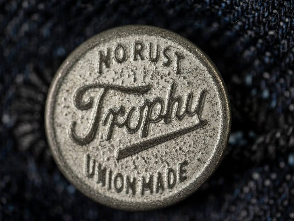 trophy clothing authentic type ii denim jacket button