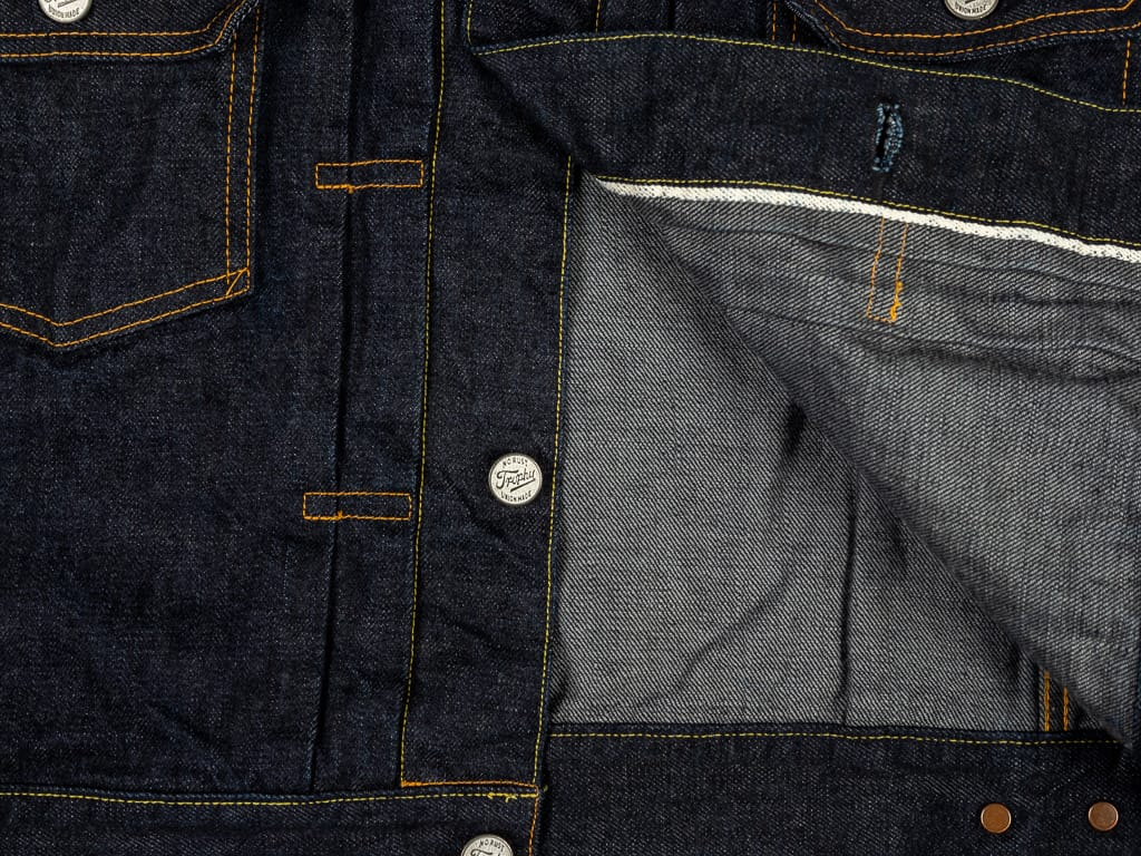 trophy clothing authentic type ii denim jacket selvedge