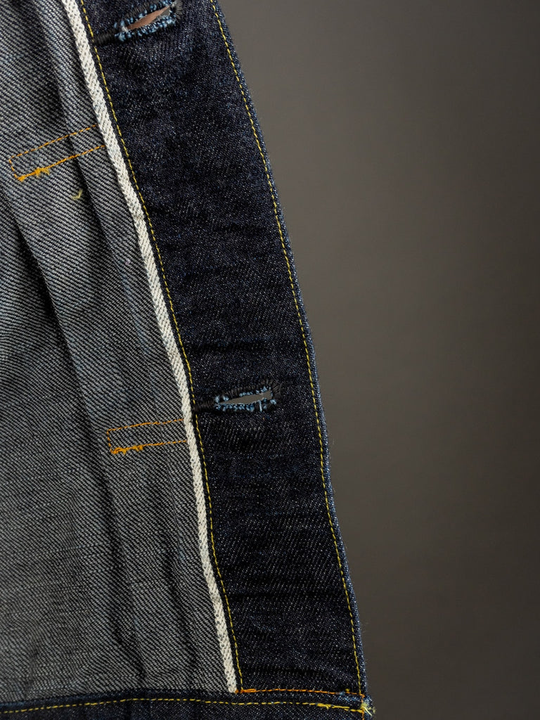 trophy clothing authentic type ii denim jacket selvedge interior
