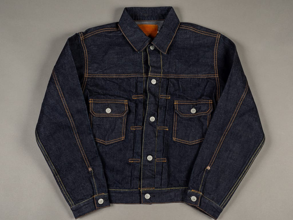 trophy clothing authentic type ii denim jacket indigo