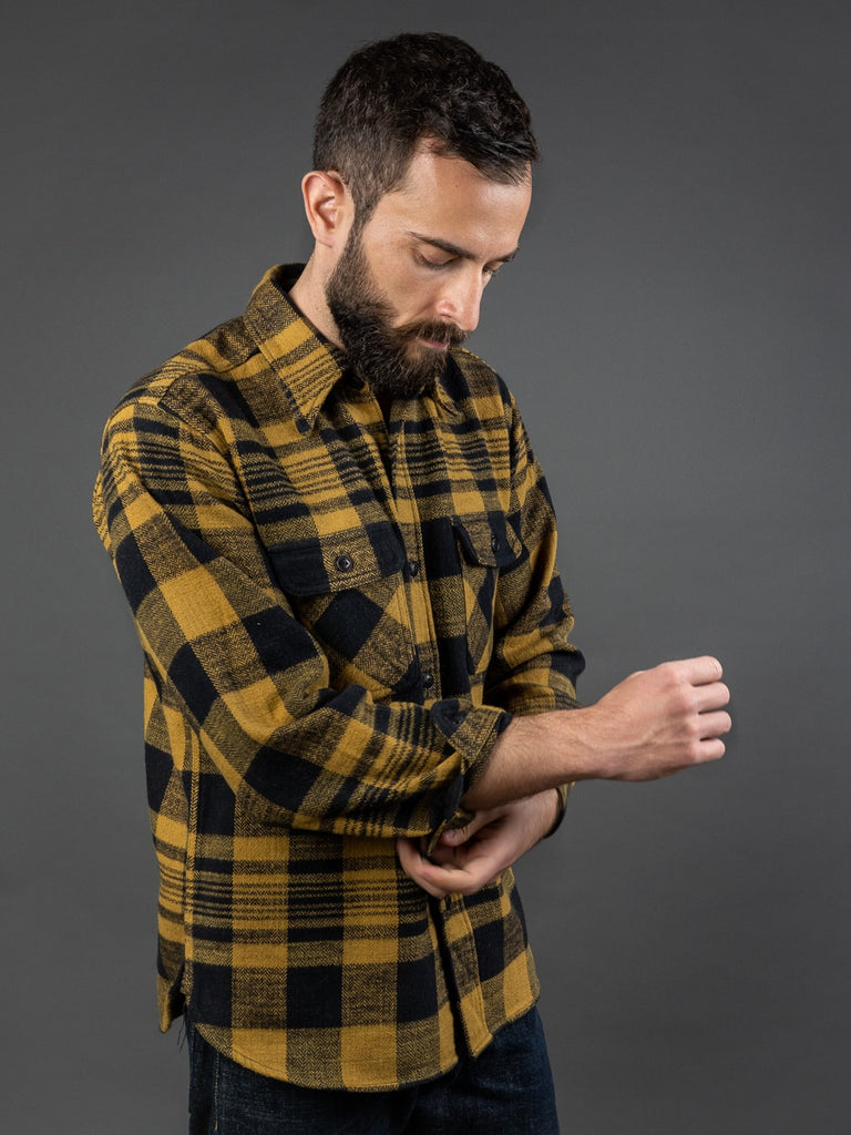 Trophy Clothing Buffalo Shirt flannel mustard black