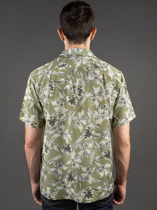 Trophy Clothing Duke Hawaiian Shirt Green back